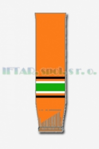hokej. štulpny, oranžová-černá-bílá-zelená, JUNIOR