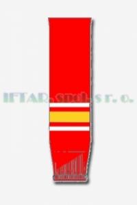 hokej. štulpny, červená-bílá-žlutá, JUNIOR