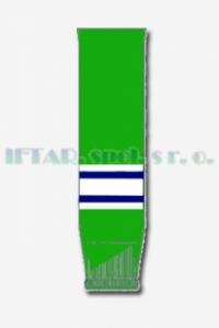 hokej. štulpny, zelená-bílá-modrá, JUNIOR